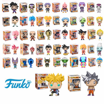 Funko Pop Japanese Anime Dragon Ball GOKU Golden Frieza Trunks Vegeta Krillin Model Toys Action & Figure Collectible Vinyl Dolls 52styles pvc amine figma mini dragon ball z goku golden frieza great vegeta zamasu ape vinyl action figure collectible model toy