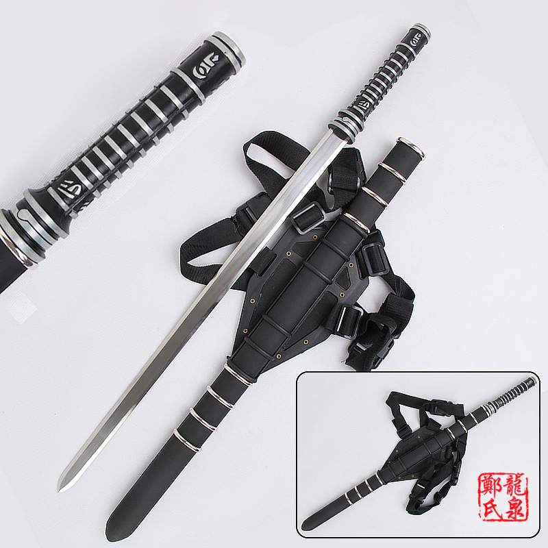 For Daywalker Sword Blade Trinity Movie w Leather Back Sheath Stainless steel Blade Zinc Handle Collectible