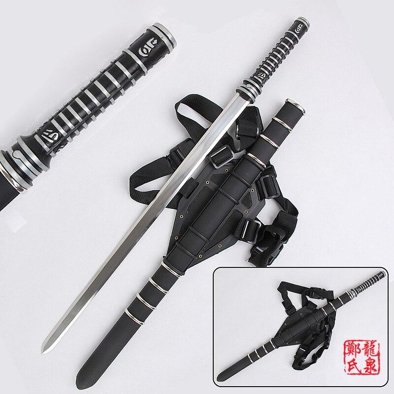 Para Daywalker Sword Blade: película Trinity con funda trasera de cuero hoja de acero inoxidable mango de Zinc suministro coleccionable