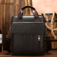 High quality first layer cowhide business bag for men with a cross shoulder