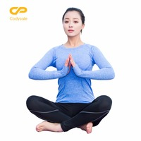 Codysale Female T Shirts Quick Dry Fitness Tops Shirts For Women Long Sleeve O Neck Loose