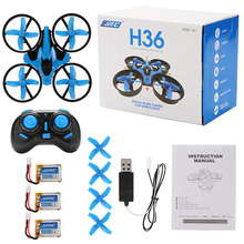 H36 Mini RC Drone 2.4GHz 4CH 6 Axis Gyro RC Quadcopter Headless Mode Drone Flying Helicopter with Additional Battery Zk35