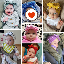 Elastic Baby Turban Cap for Girls