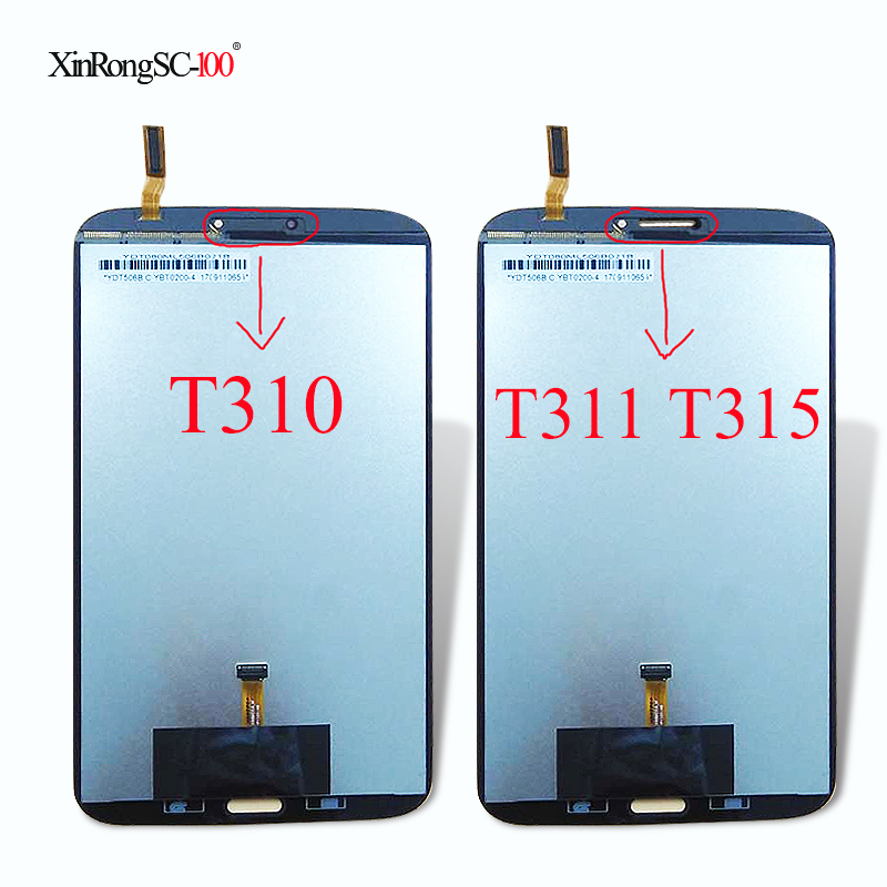 New 8'' inch For Samsung Galaxy Tab3 8.0 T310 T311 T315 SM-T310 SM-T311 SM-T315 LCD Display and Touch Screen Digitizer Assembly original 8 lcd sx080gt14 hrx k800wl2 s080b02v16 hf yp1338 20 sm t310 sm t311 sm t315 t311 t310 tablet pc display matrix screen