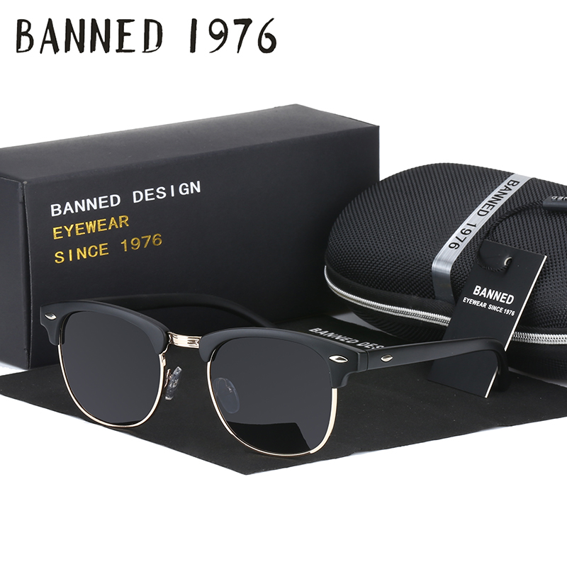 UV400 HD Polarized men women Sunglasses Classic fashion retro club Brand Sun glasses Coating Drive Shades
