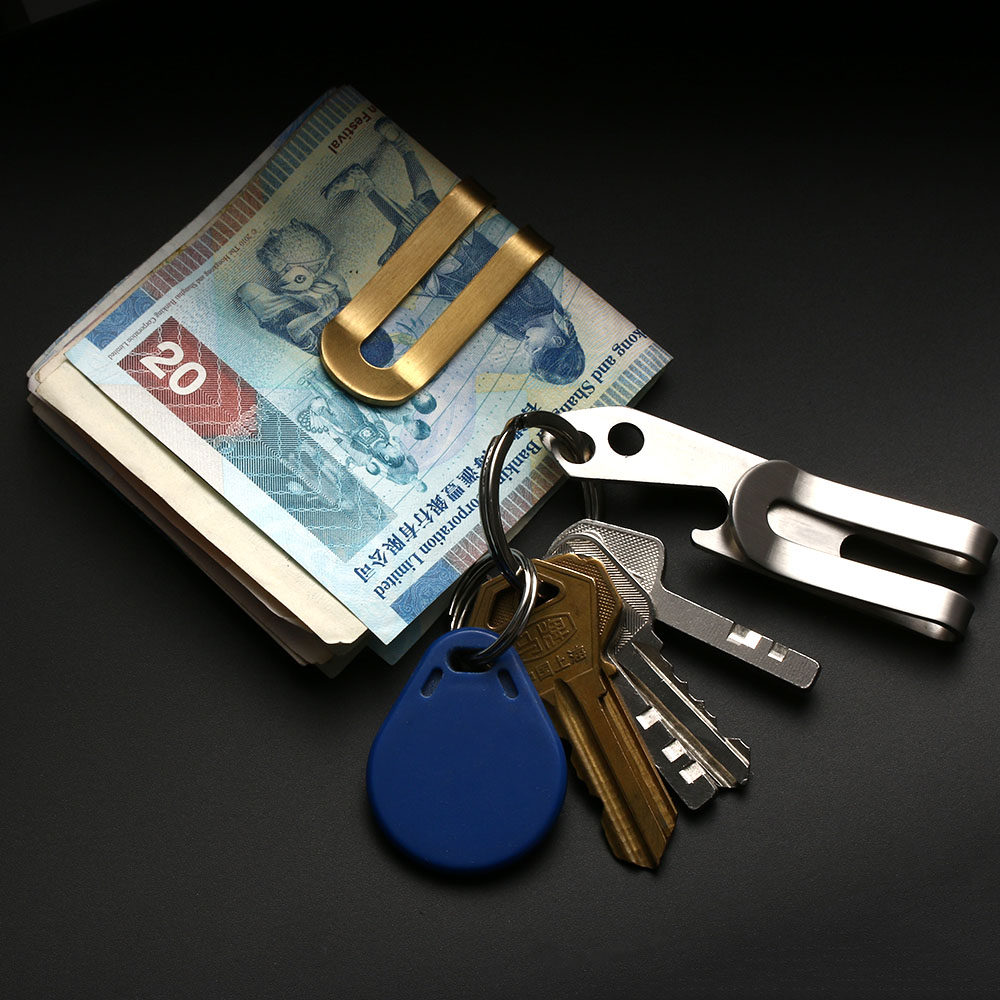 Multifunction Waist Money Clip Pocket Holder Wallet Can Bottle Opener Key Chain
