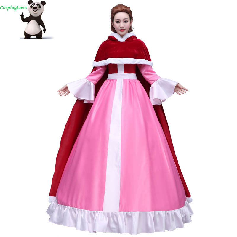 CosplayLove Movie Beauty and The Beast Custom made Pink ...