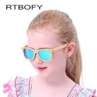 RTBOFY Madera gafas de Sol de Los Niños 2017 de la Marca de Diseño Que Restaura Maneras Antiguas Propiedades de la Lente UV400 Polarizado Gafas de Sol Gafas