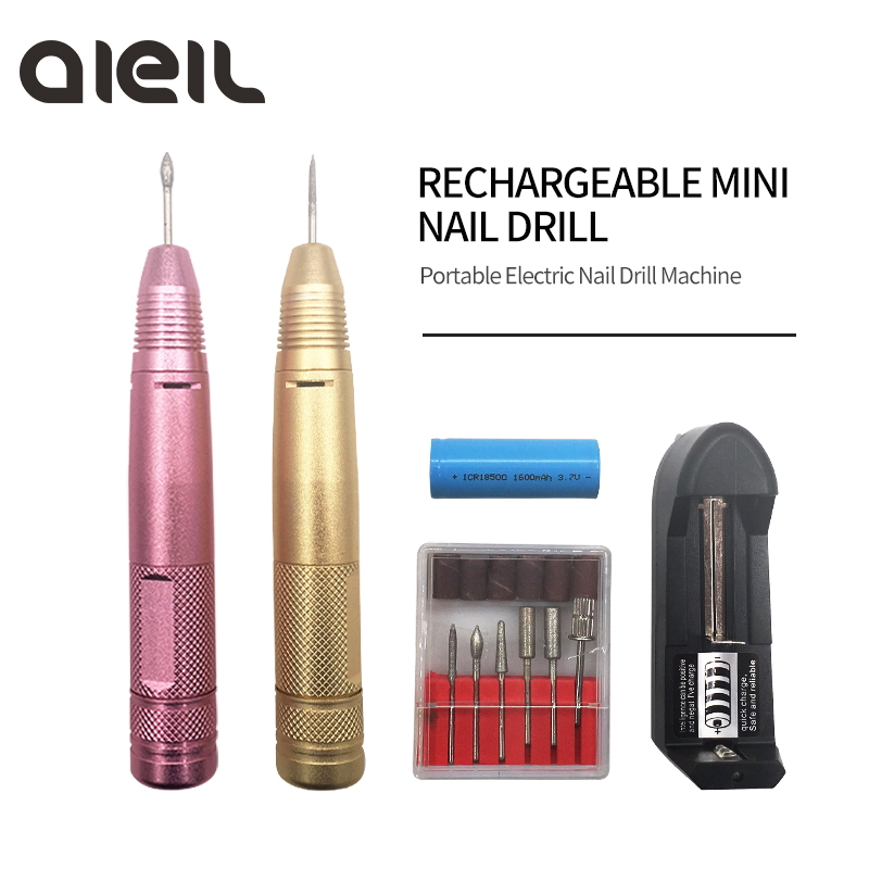 Portable Electric Mini Nail Drill Machine Rechargeable Nail Drill Strong Milling Machine Manicure Nails Cutter for Manicure Set Portable Electric Mini Nail Drill Machine Rechargeable Nail Drill Strong Milling Machine Manicure Nails Cutter for Manicure Set