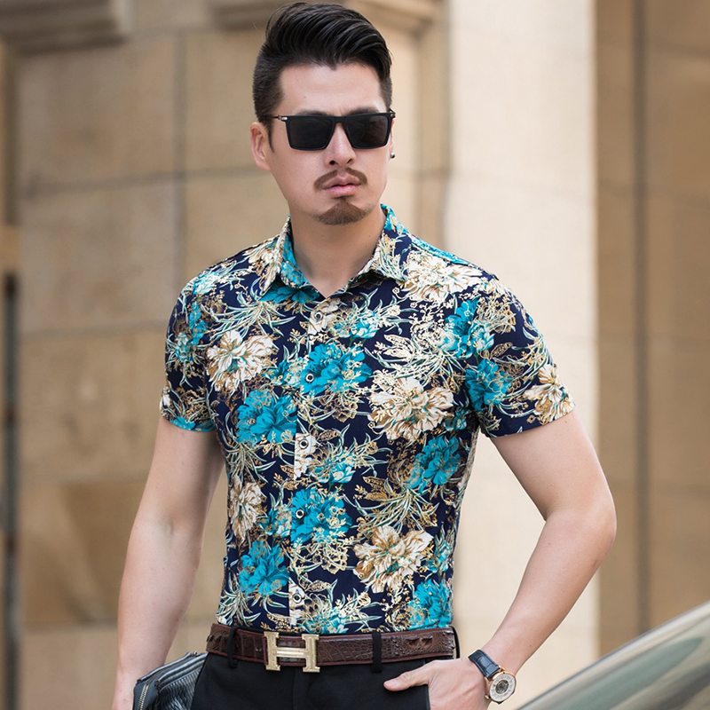 Hot Sale Men Shirt Summer New Loose Casual Social Mens Dress Shirts Business Plus Size S ...