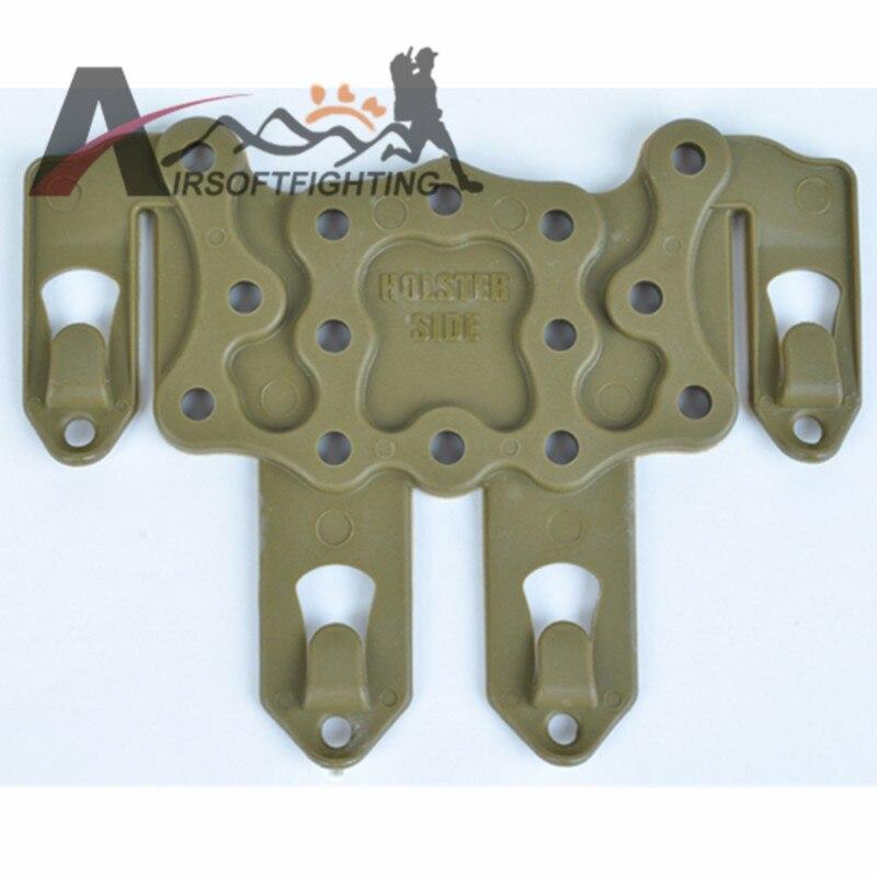 Tactical Airsoft Gun Hunting HUELGA Plataforma Funda Molle Velocidad Adaptador C