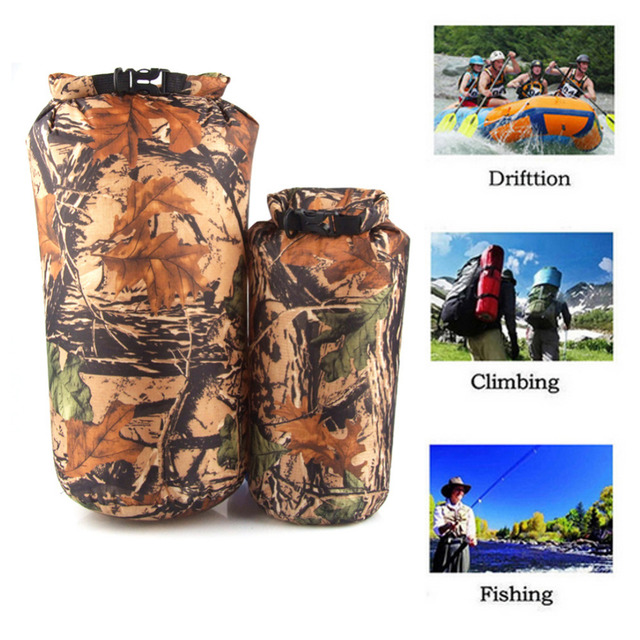 2 pcs 8L /15L outdoor drift ultra-light pressure plastic waterproof Floating Dry Bag portable swimming storage package