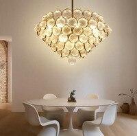 ZYY Nordic Творческий железа люстра пост современный простой Стекло подвесной светильник для ресторана Спальня Хрустальная люстра светодиодны