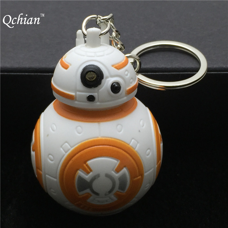 New Star Wars The Force Awakens Bb8 Bb-8 R2D2 Droid Robot Led Keychain Action Figure Stormtrooper Clone Strap Toy Gifts star wars stormtrooper helmet cosplay mask figure collectible model toy 1 1
