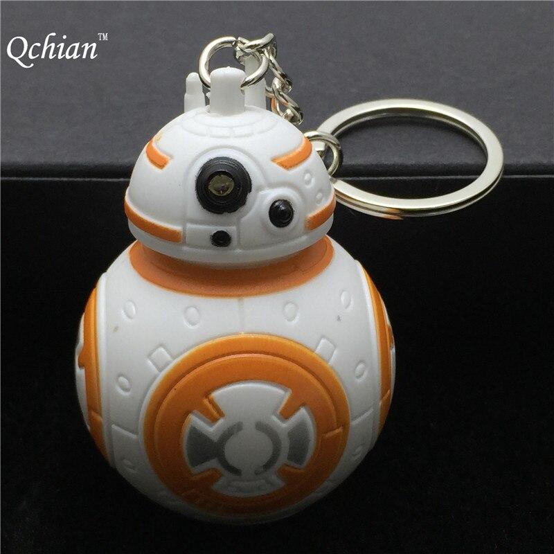 New Star Wars The Force Awakens Bb8 Bb 8 R2D2 Droid Robot Led Keychain font b
