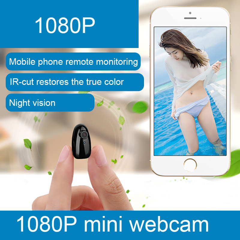 2018 new 1080P Mini network camera HD night vision wireless WIFI 2.8 mm focal length camera support mobile phone remote million hd network camera mobile phone wireless surveillance camera night vision wifi mobile detection