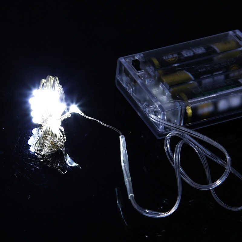 3 * AA светодиодный аккумулятор серебристого провода 2 м/5 м/10 м струнные огни Светодиодный символ гирлянды Рождество праздник свадьба