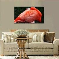 SPEDIZIONE GRATUITA Famoso Caraibi Flamingo Arte Pittura Su Tela (Senza Cornice) 45x80 cm