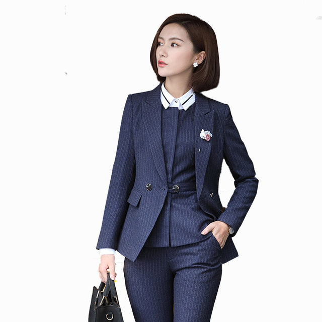af05d6a8ea7 Vintage Business Suits Women Plus Size New Professional Two Piece Office  Women Set And Pants Work Elegant Womens Suits Xk50023