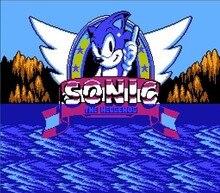 Sonic the Hedgehog 72 контакты 8bit карточная игра доставка!