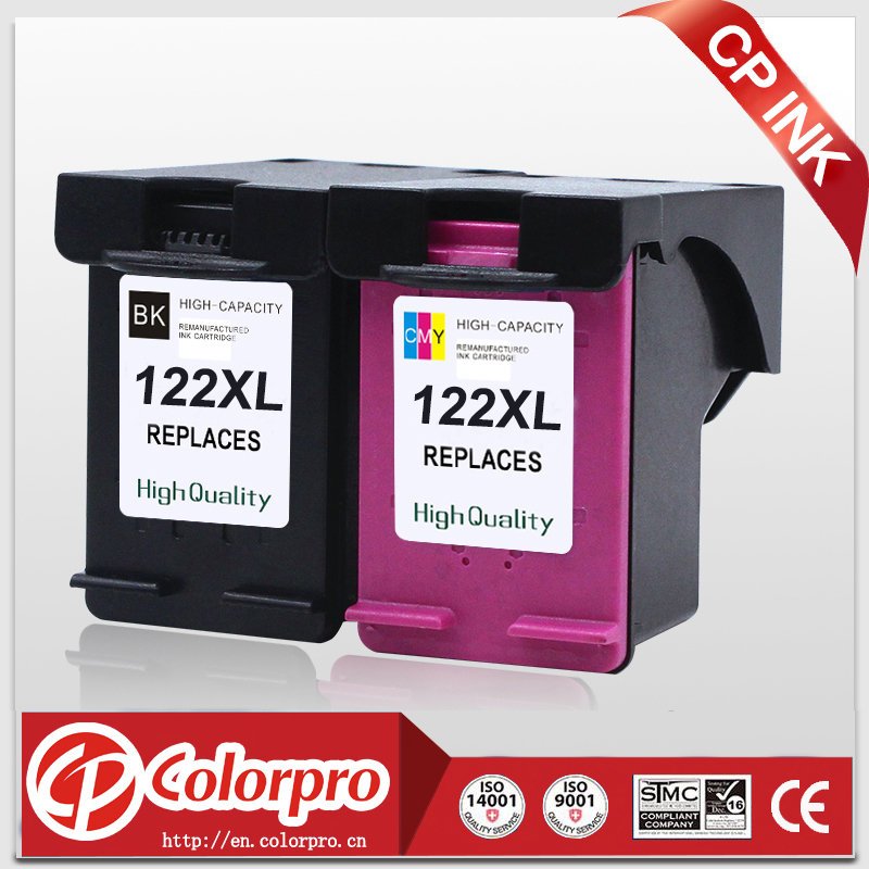 CP <font><b>122</b></font> Replacement for HP122XL <font><b>122</b></font> Ink Cartridge for <font><b>hp</b></font> Deskjet 1050a 2050 1050 2050s 3050A 1000 2000 3000 Printer (1BK/1C) image