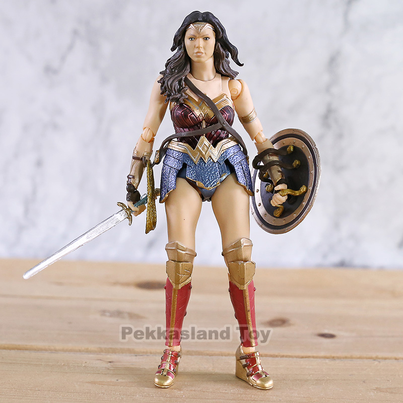 SHF DC Comics Wonder Woman Superman Flash PVC Action Figure Collectible Model Toy image
