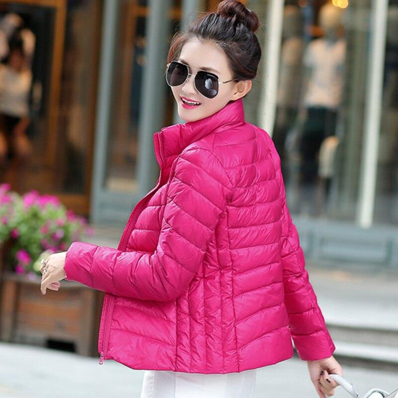 Женское зимнее пальто, новинка, светильник Кая куртка на 80% белом утином пуху, Женская приталенная куртка-пуховик, женское портативное ветро...