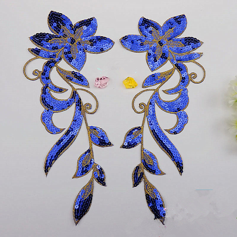 წყვილი Flower Sequined Appliqued Mirror Pair Flower - ხელოვნება, რეწვა და კერვა - ფოტო 3