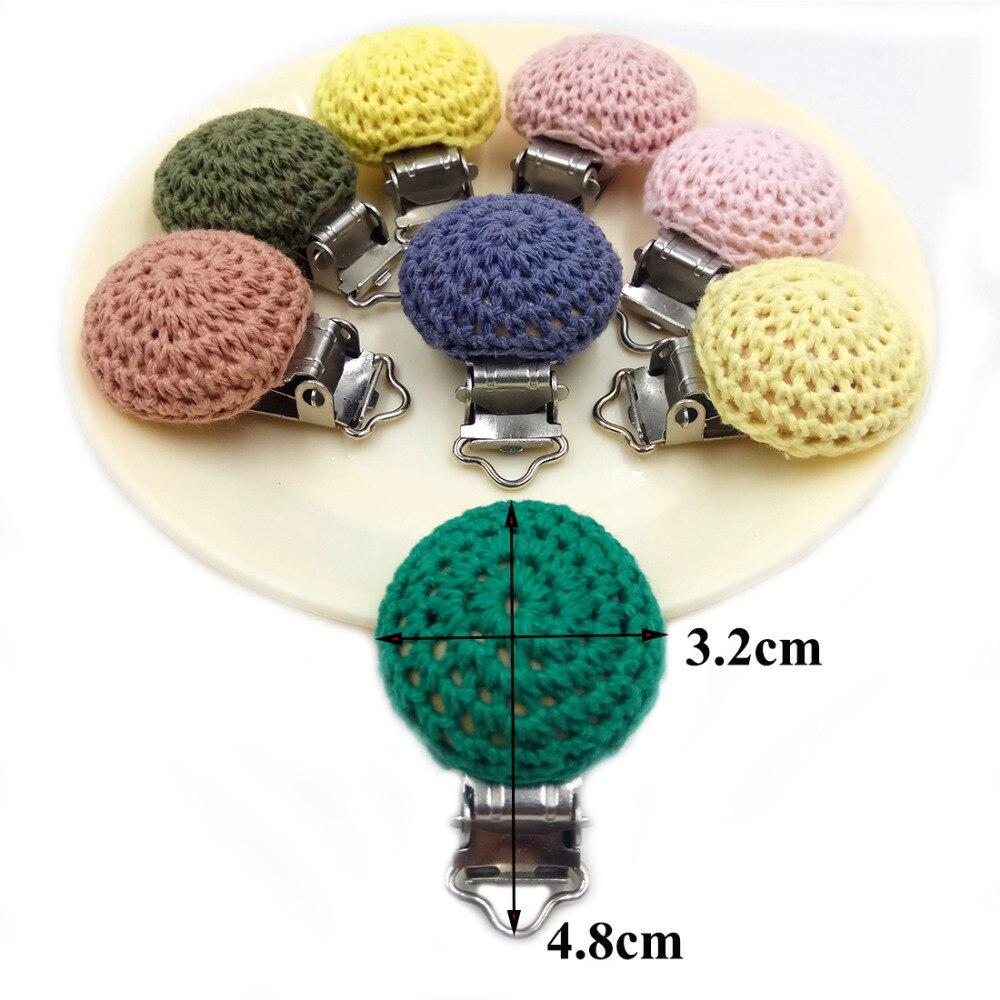 Pacifier Clip Set ~ Elegant Crochet Handmade Baby Gift Set ~ Made In USA