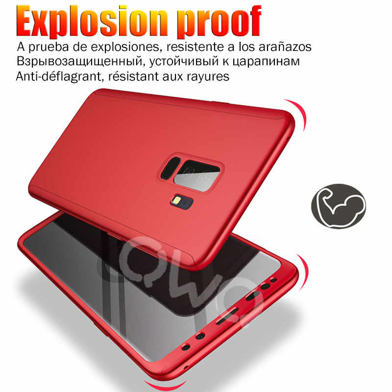 360 градусов Матовая коробка phoen, чехол для samsung Galaxy S8 S9 S10 Plus Note 9 8 полная Защита для samsung S10E S7 S6 PC задняя крышка