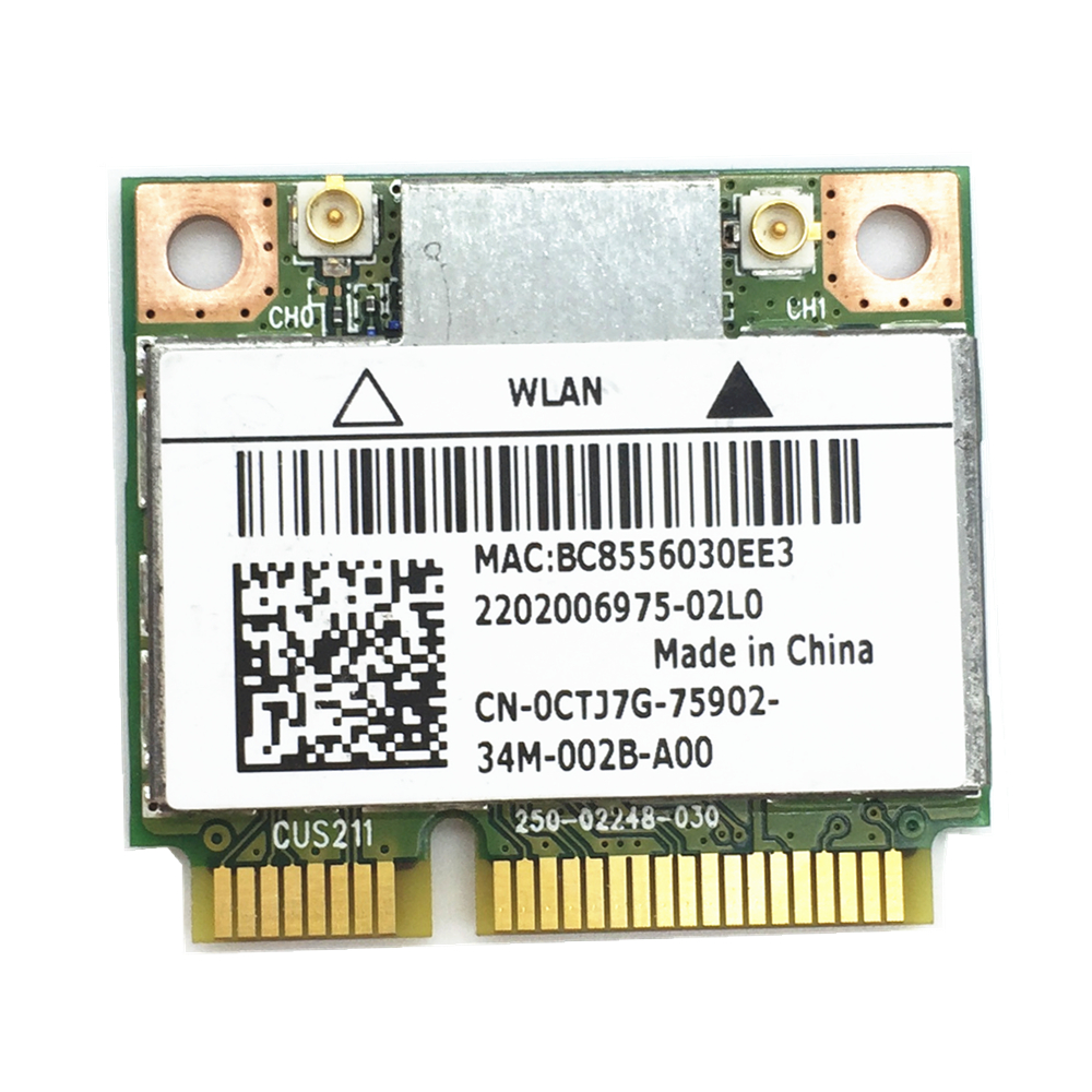 For N1202 AR5B22 WIFI Wireless Network Card With Bluetooth 4.0 For  Alienware 14 17 18