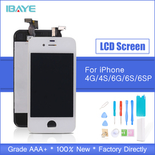 SHIP FROM RUSSIA ScreenFor iPhone 4s Screen Touch Digitizer screen for iphone4 LCD display Assembly Replacement Black +Tools  lcd display replacement for iphone 4s touch screen panel digitizer frame bezel full assembly tools white black high quality