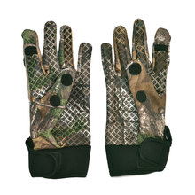 Camo Fishing Gloves Hunting Gloves Anti-Slip 2 Fingers Cut Camping Cycling Half Finger Gloves