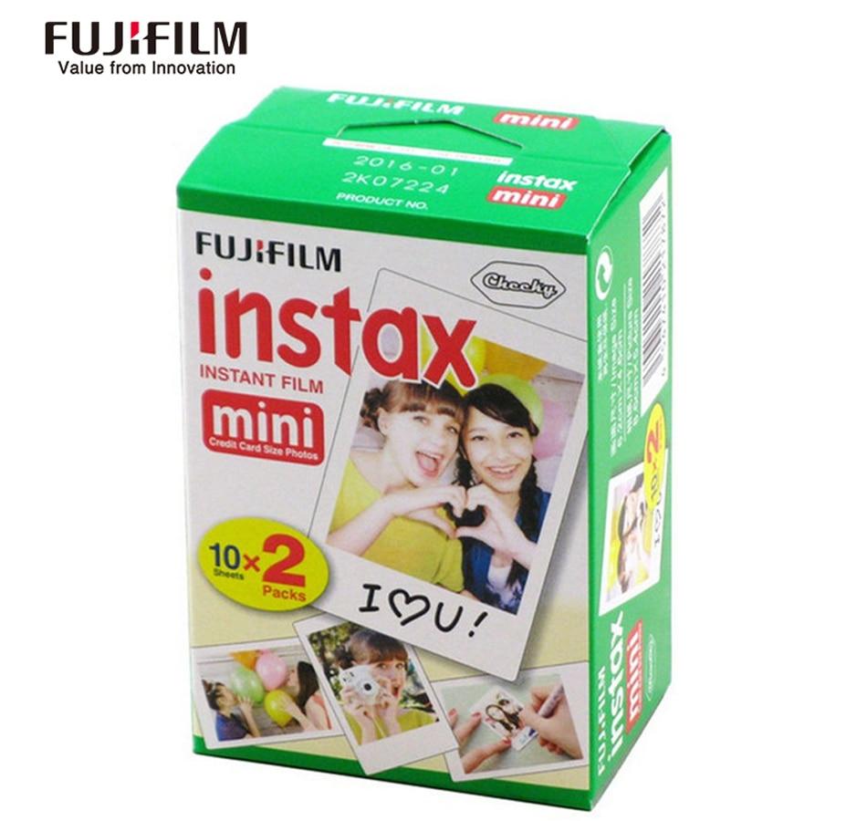 Fuji film fuji instax mini 8 9 film 50 feuilles film de bord blanc pour fuji film caméra instantanée mini 8 9 7 s 25 50 s 90 papier Photo - 5