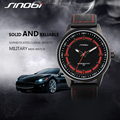 SINOBI Sport Watches for Men 2016 Leather Band Watch Men Fashion Waterproof Quartz Wristwatches Brand Relogio Masculino S9621G