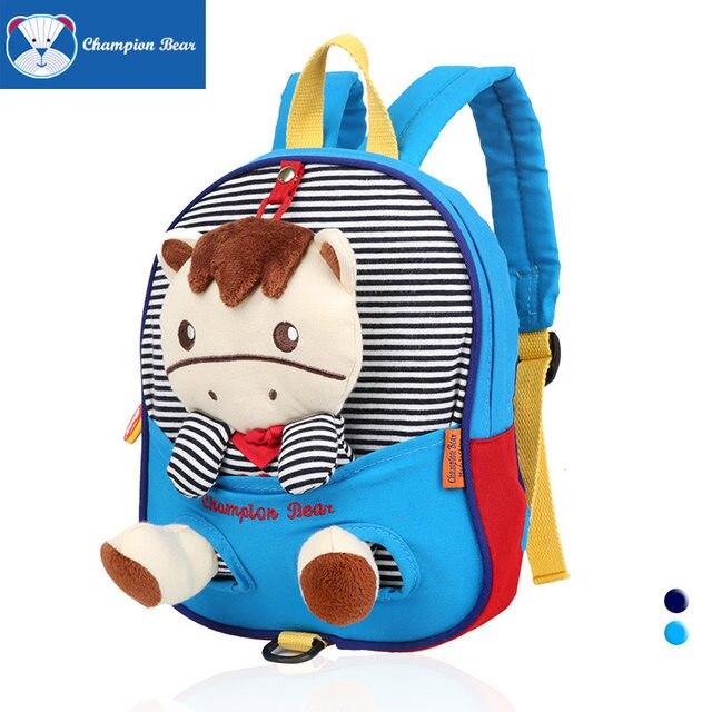 ... Cartoon Backpack Baby School Bags Kids  Backpacks Target newest 95c22  f6593  Online Shop Champion Bear Kindergarten Children Schoolbag To quality  design ... 66d34a00485e9