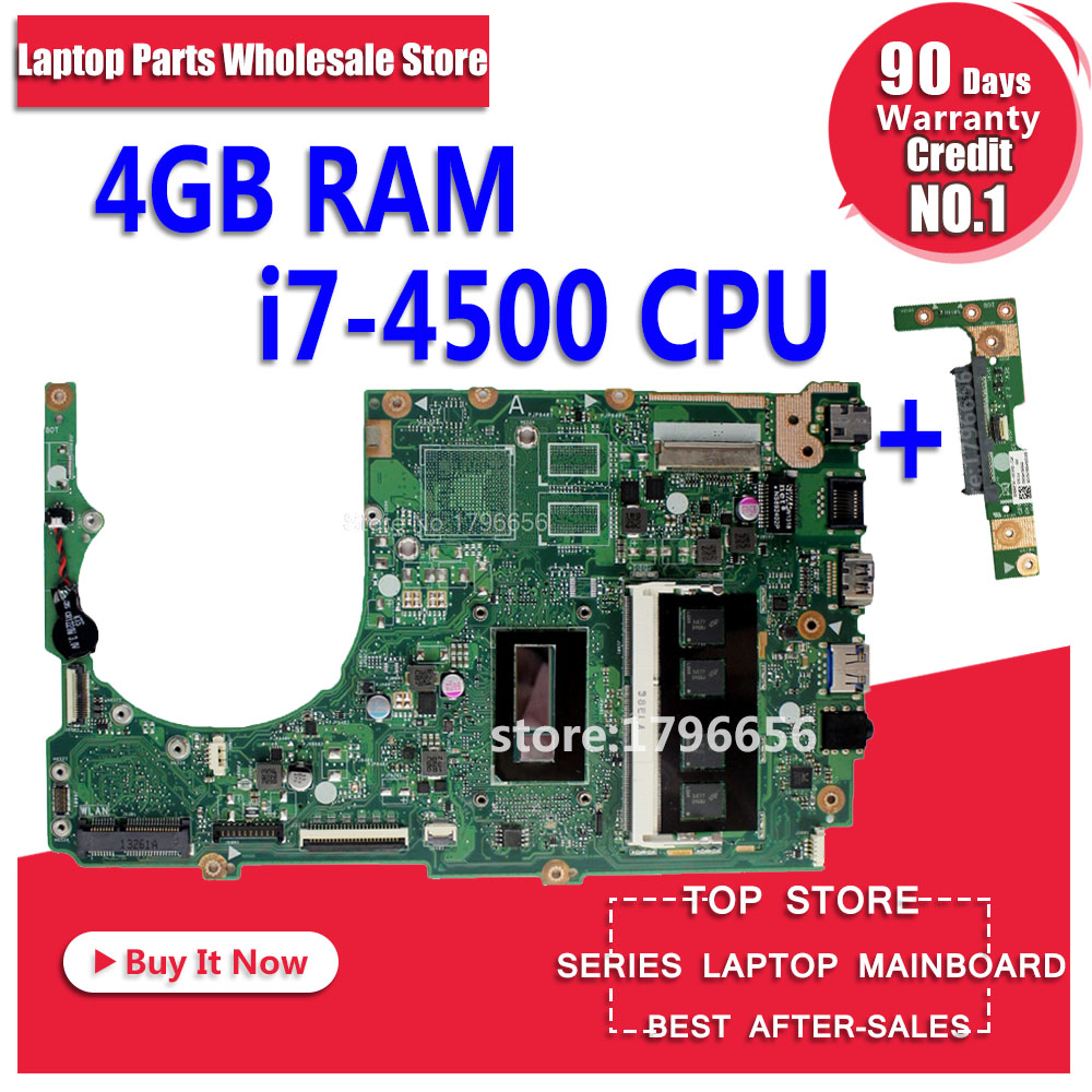 Отправить доска + S301L Q301LP S301LP S301LA материнская плата для ноутбука Asus с I7 4500U GM DDR3 материнская плата полностью проверена 100% good work