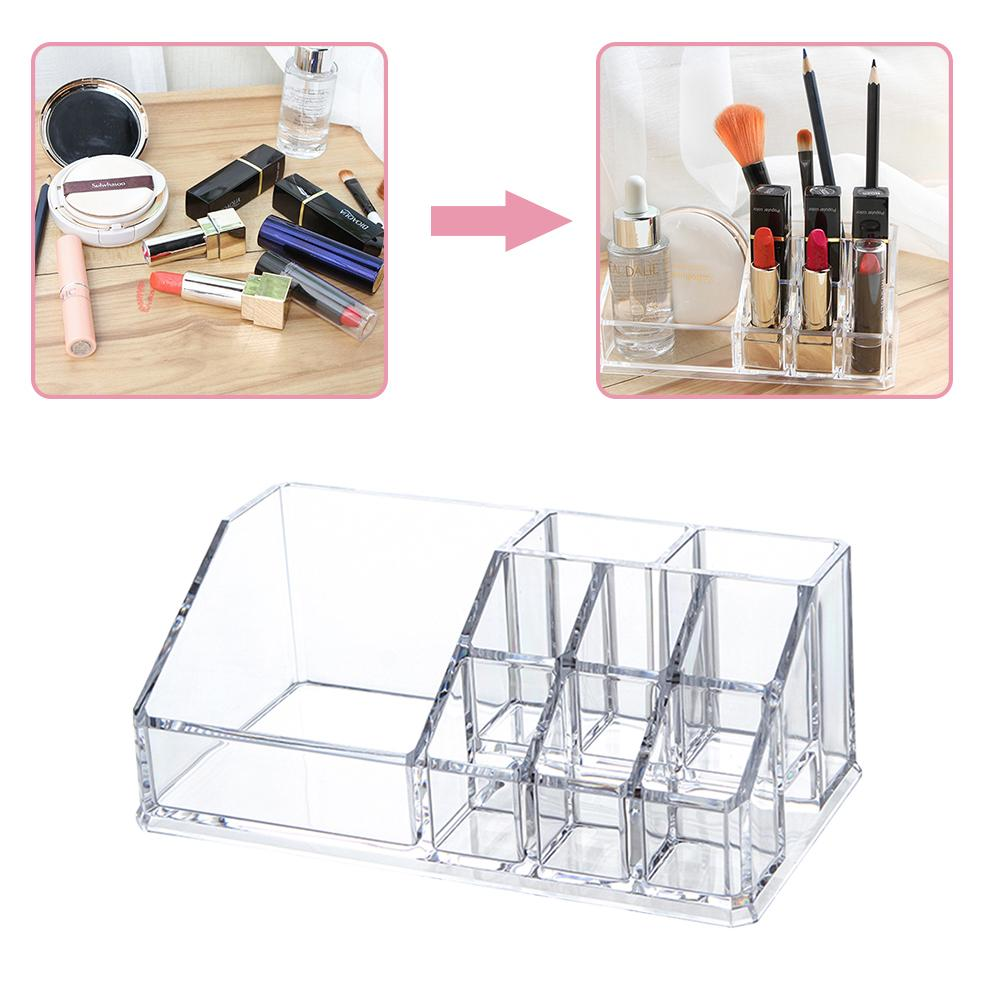 Transparent Schubladen Lagerung Box Make-Up Kosmetik <font><b>Organizer</b></font> <font><b>Acryl</b></font> Make-Up Veranstalter image