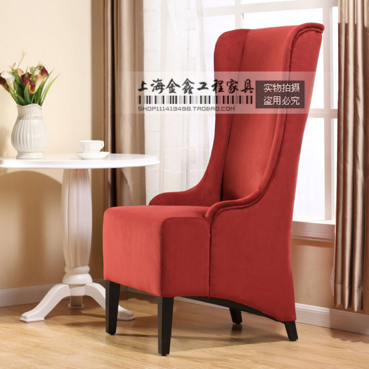 Neoclassical Leisure Sofa Single Sofa Chair High Back Chairs Office