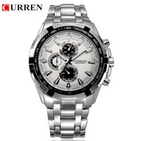 HOT Sell CURREN Men Watches Top Brand Luxury Men Military Wrist Watches Full Steel Men Sports