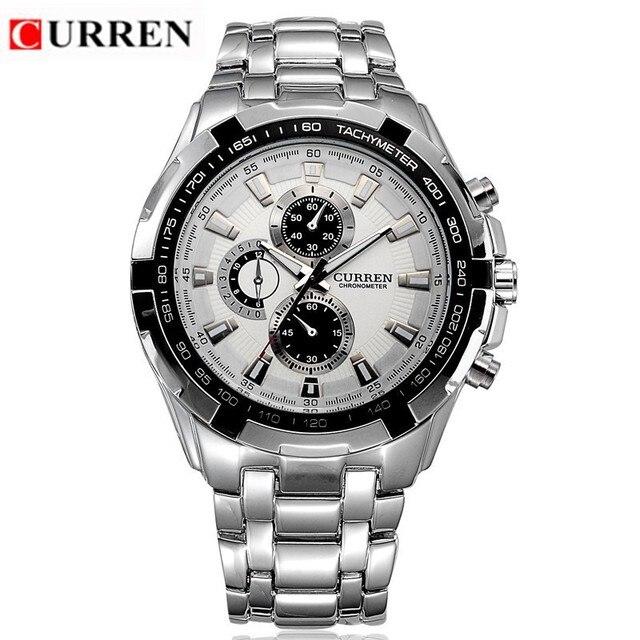 2a61b93fbc8 CURREN homens De Quartzo Relógios Top Marca de Luxo Homens de Pulso Militar  Relógios Homens de