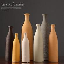 Nordic Dried Flower Ceramic Vase Simple Desktop Art Decoration Ornaments Living Room Table Flower Decoration Container