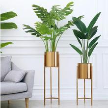 Напольная ваза, золотая металлическая полка, ваза для сушеных цветов, для дома, для дома, декоративная ваза для цветов, аксессуары для фона, ваза