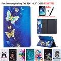 Fall Für Samsung galaxy tab S5e 10 5 2019 SM-T720 SM-T725 Abdeckung Funda Tablet Mode gemalt Stehen Shell + Film + stift