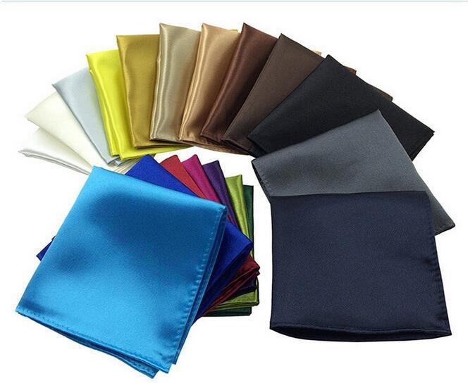 Solid Color Mens Handkerchief Small Pocket Square Business Chest Towel Hanky Gentlemen Suit Hankies Fashion Different Color2017