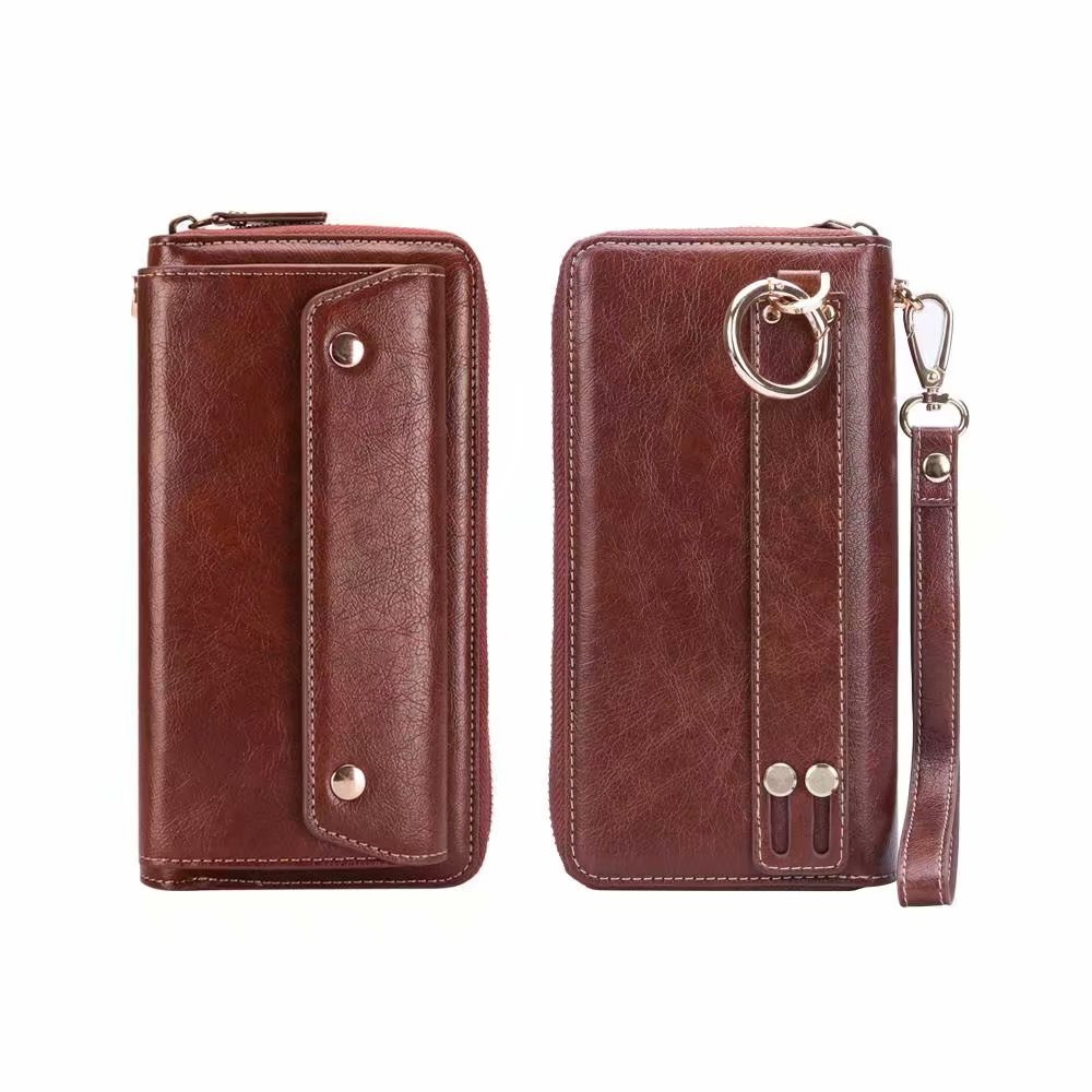 Finger Ring Belt Hand Strap PU Wallet Mobile Phone Case Pouch For Moto M/G6/G6 Plus/G6 Play/E5/E5 Play/E5 Plus/Z2 Force/X4/G5S