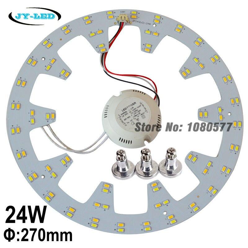 24 W / 48 W 270 mm panneau de plafonnier LED panneau Double couleur SMD5730 lampe engins plaque + vis de l'aimant + pilote