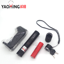 Buy Green Laser Pointer presenter +18650 Battery+18650 Charger High Power Sets Flashlight Safe Key