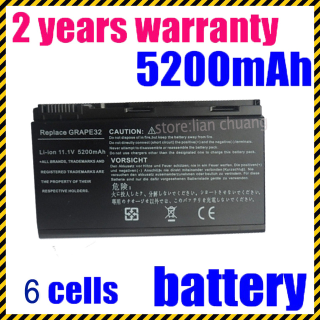Jigu 6 células 4400 mah bateria do portátil para acer extensa 5220 7220 5530 5520 TravelMate 5320 TM5720 TM7520 TM7720 TM00741 TM00751