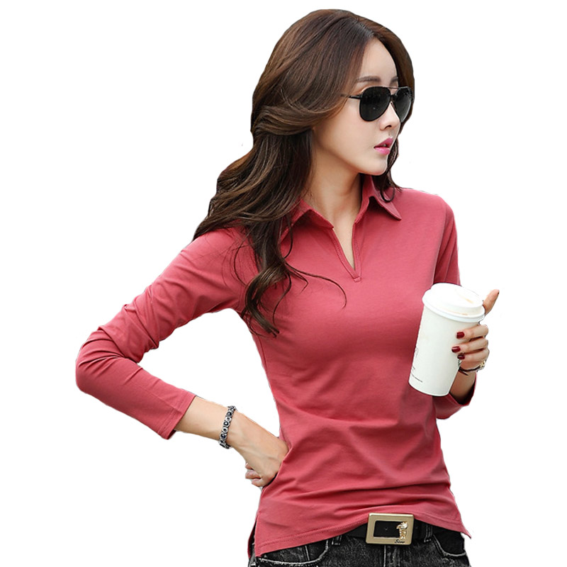 Buy Spring Autumn Polo Shirts For Women